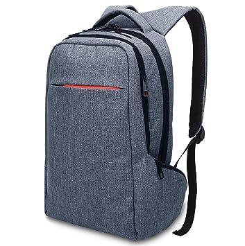 kaichen antirrobo Mochila Ordenador portátil 15.6/14 Pulgadas Hombre Impermeable Bolsa Mochila PC portátil para Jugar a/Caso/Escolar Negro Azul: Amazon.es: ...