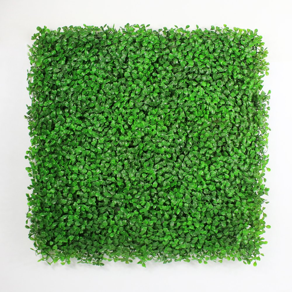 ULAND Artificial Hedges Panels, Outdoor Greenery Ivy Privacy Fence Screening, Home Garden Wedding Decoration (6, Light Green Boxwood)