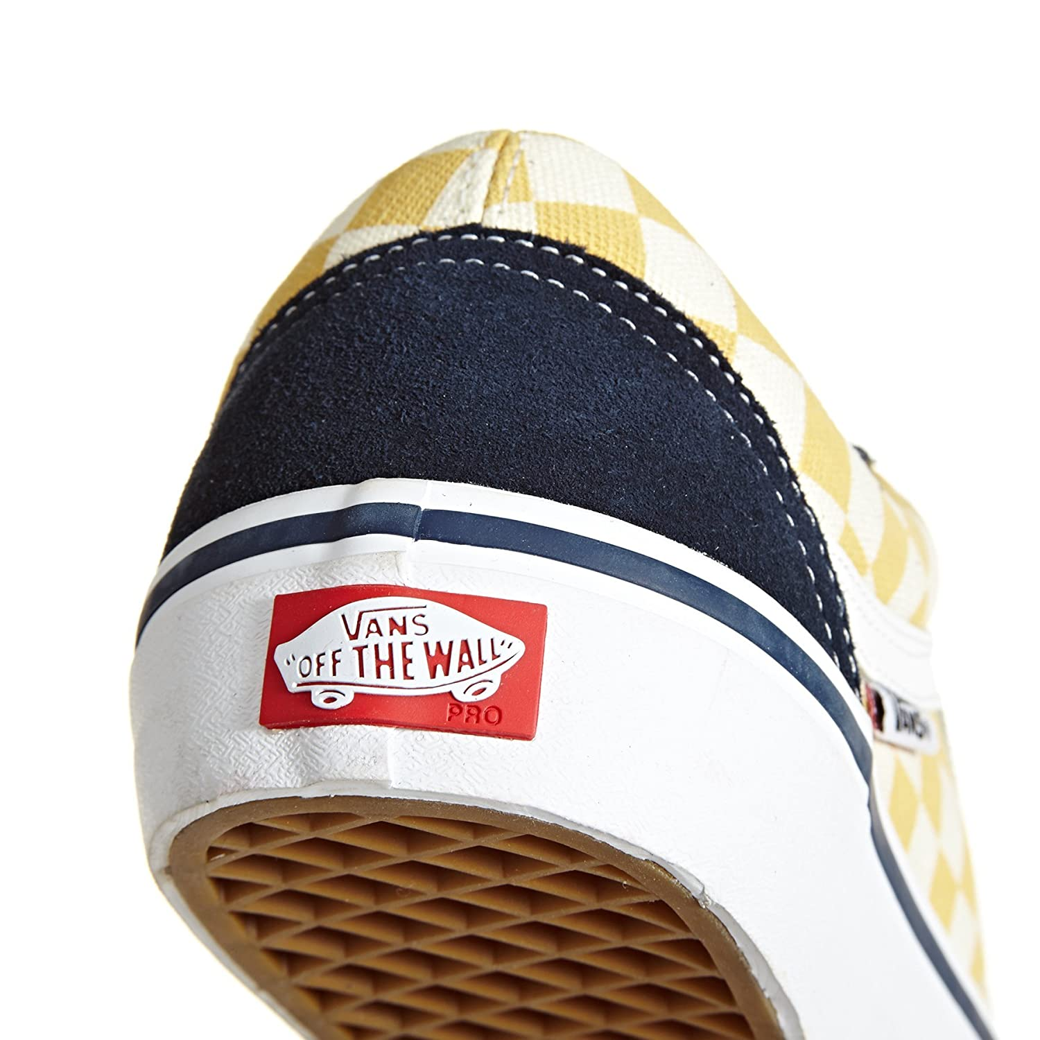 6e8c3d0e890a07 Vans Skate Shoe Men Checkerboard Old Skool Pro Skate Shoes Dress Blues Ochre   Amazon.co.uk  Shoes   Bags