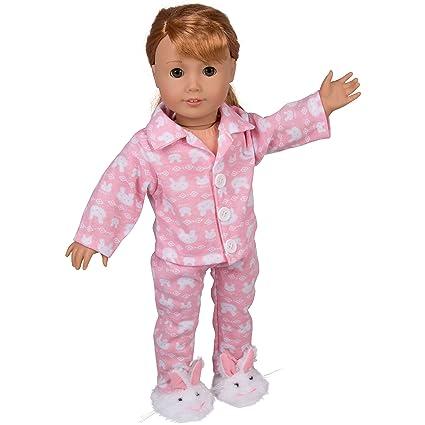 ed033c151120 Amazon.com  Dress Along Dolly Bunny Doll Pajamas for 18
