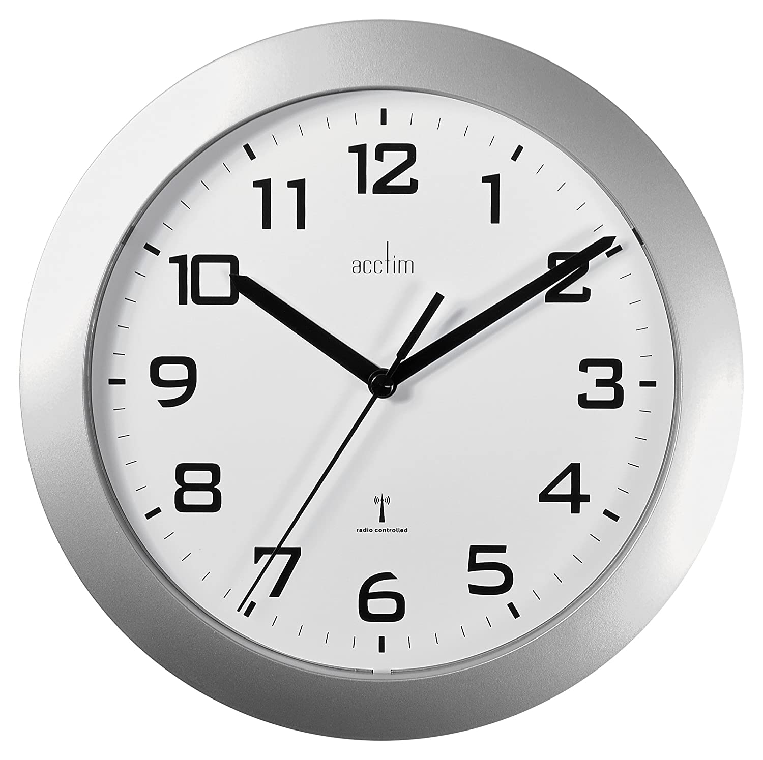 office wall clocks large. Acctim 74367 Peron Radio Controlled Wall Clock, Silver: Amazon.co.uk: Kitchen \u0026 Home Office Clocks Large I