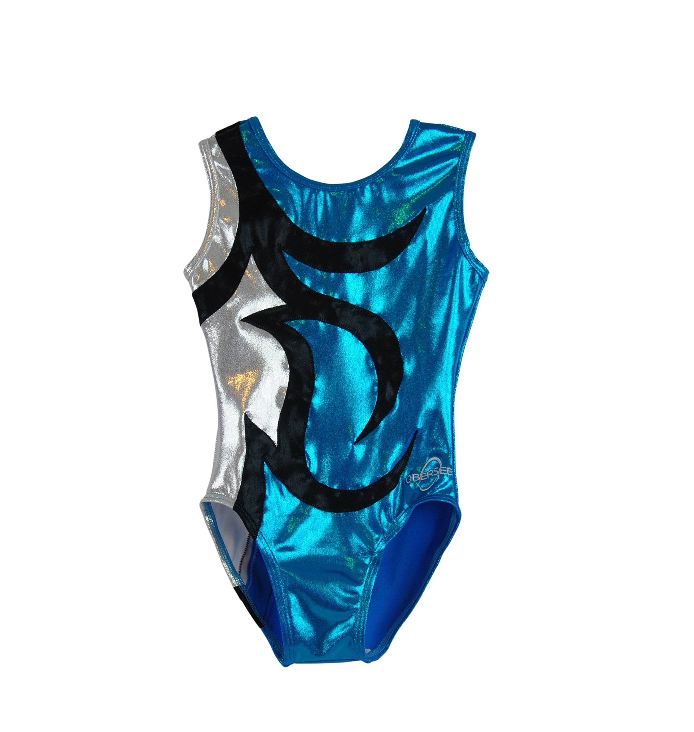 Obersee Kid's Gymnastics Leotard, Abby Turquoise, cm by Obersee