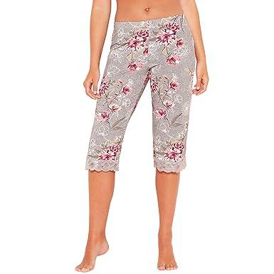 74b4ba2aa Debenhams Gorgeous Dd+ Womens Grey Floral Print  Frosted  Cropped Pyjama  Bottoms 12