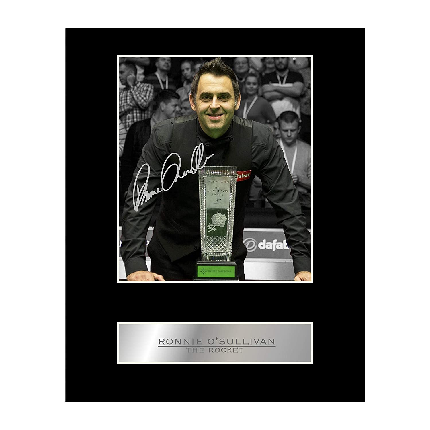Ronnie O/'Sullivan Signed Mounted Photo Display