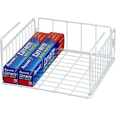 Simple Houseware Under Shelf Basket, White