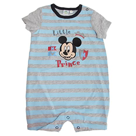 Disney – Pijama Corto con Mickey Little Prince – Bebé 3 Meses Turquesa