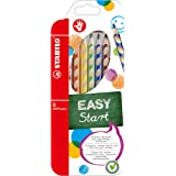 STABILO EASYcolours Ergonomic Colouring Pencil for Right Handed - Assorted Colours, Wallet of 6