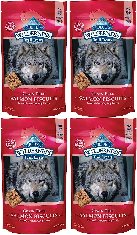 Blue Buffalo Wilderness Trail Treats Grain Free Salmon Biscuits Dog Treats 40 OZ Made in USA