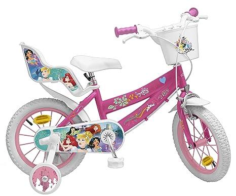 Toimsa Bicicletta Da Bambina 14 Dai 4 Ai 7 Anni Motivo Principesse Disney