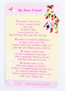 Xpress Yourself Friendship Keepsake Card 3.25 x 2 For A Special Friend XY25034