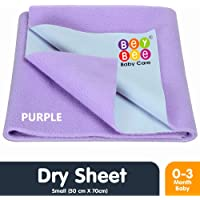 Bey Bee Quick Dry Waterproof Reusable Underpads/Crib Sheet/Cot Mat (Small, Purple)