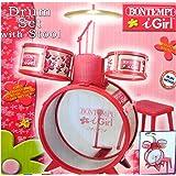 Bontempi JD 4571 I-Girl Drum Set with Stool (4-Piece)