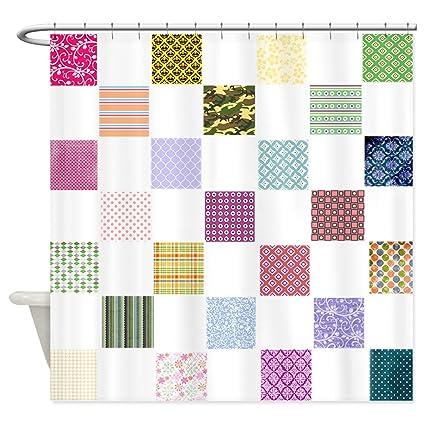Amazon HANHAOKI Rainbow Quilt Shower Curtain For Bathroom 36 X