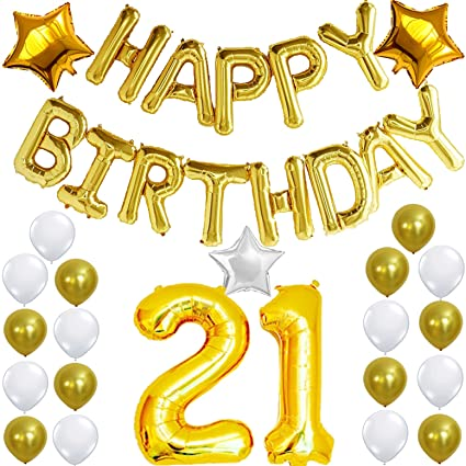 Amazon 21st Birthday Decorations Party Kit Happy Birthday