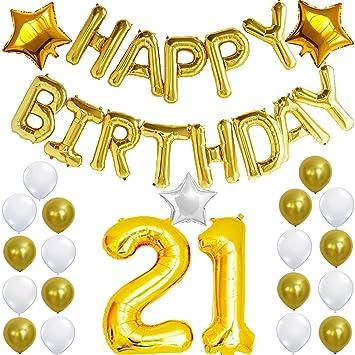 Amazoncom 21st BIRTHDAY DECORATIONS PARTY KIT Happy Birthday