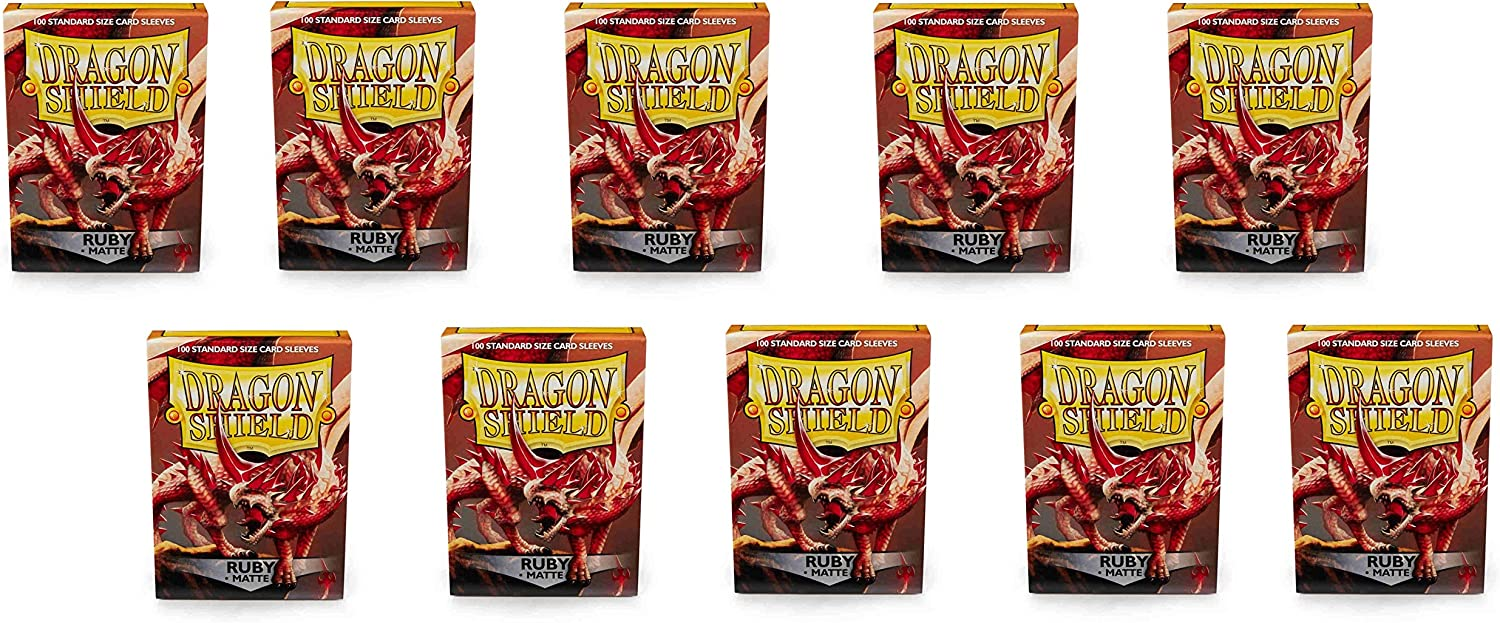 10 Packs Dragon Shield Matte Ruby Standard Size 100 ct Card Sleeves Display Case 81FNuLwOOiL