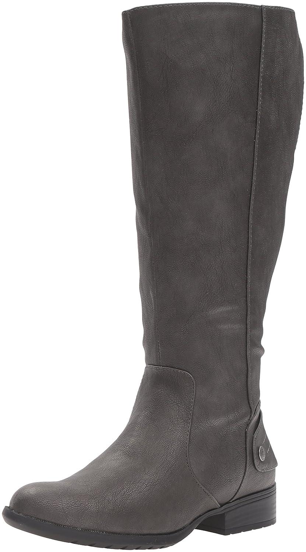 LifeStride Women's Xandywc Riding Boot- Wide Calf B01DV98XJ6 8.5 B(M) US|Dark Grey