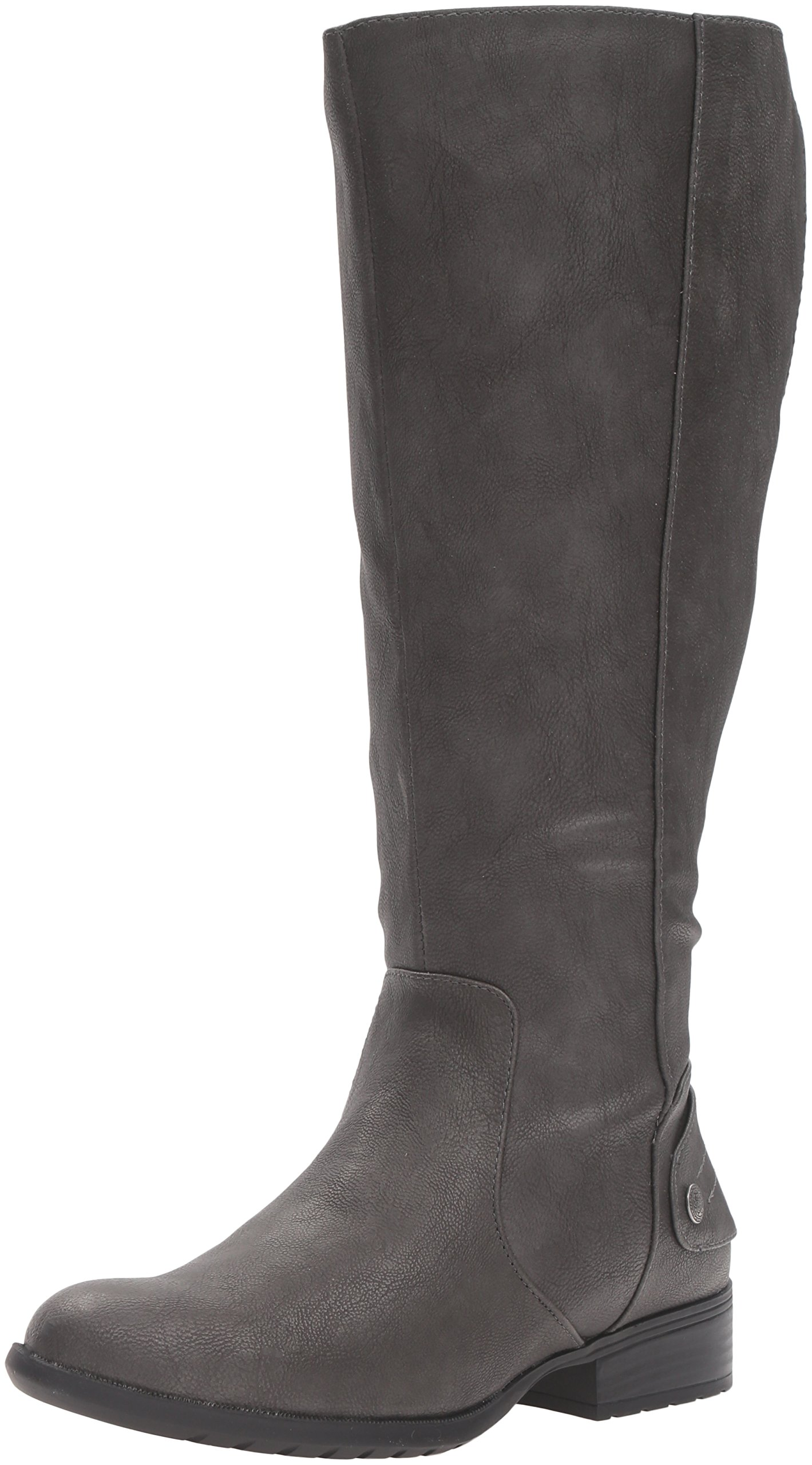 LifeStride Women's Xandywc Riding Boot- Wide Calf, Dark Grey, 11 W US