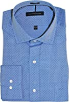 Tommy Hilfiger Men's Non Iron Regular Fit Check Spread Collar Dress Shirt
