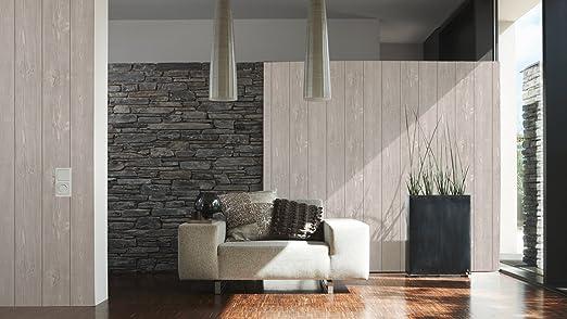 "A.s. creation 896827   carta da parati effetto legno ""wood n stone ..."