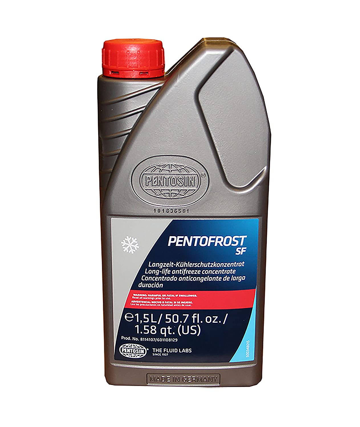 Pentosin Coolant/Antifreeze SF 1.5 Liter, Pink and Clear