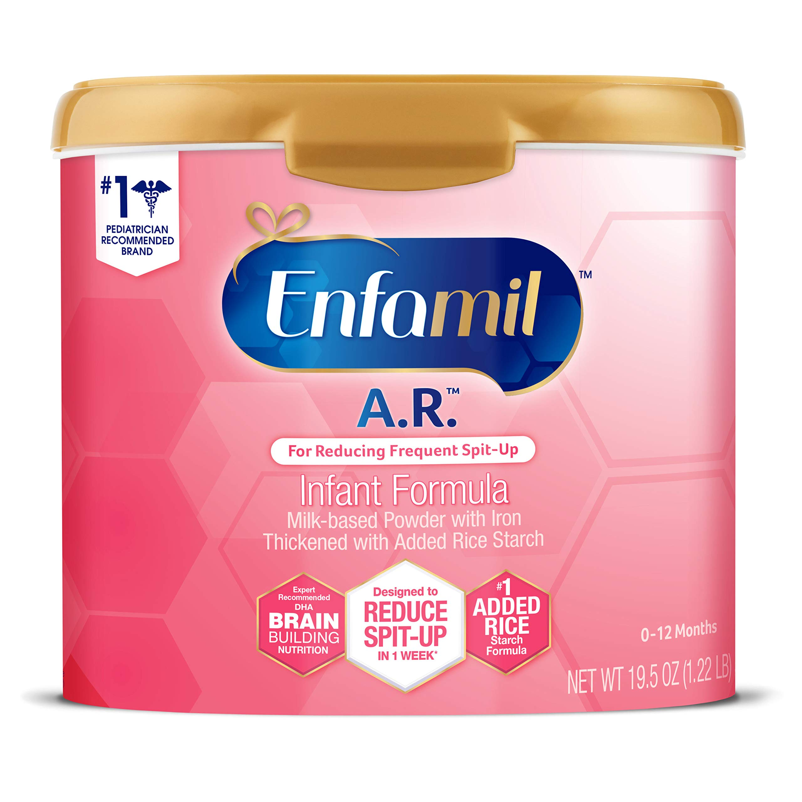 Enfamil A.R. Infant Formula - Clinically Proven to Reduce Spit-Up in 1 Week - Reusable Powder Tub, 19.5 oz