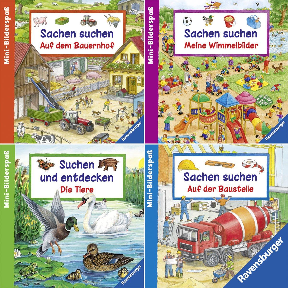 Ravensburger Mini-Bilderspaß 71 - Sachen suchen und entdecken (4er-Set)