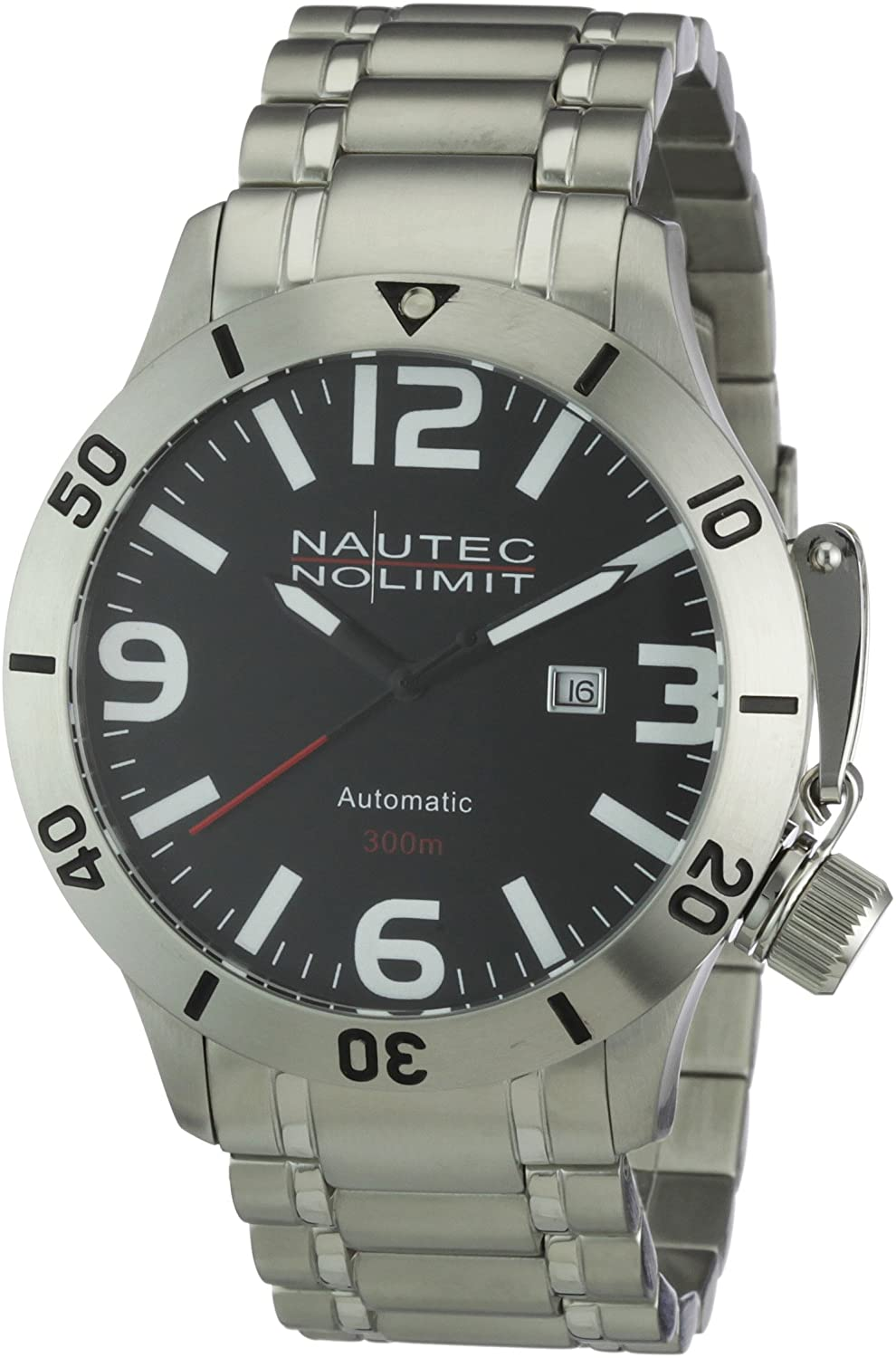 Nautec No Limit Herren-Armbanduhr Analog Automatik Canteen Diver CD AT-STSTSTBK