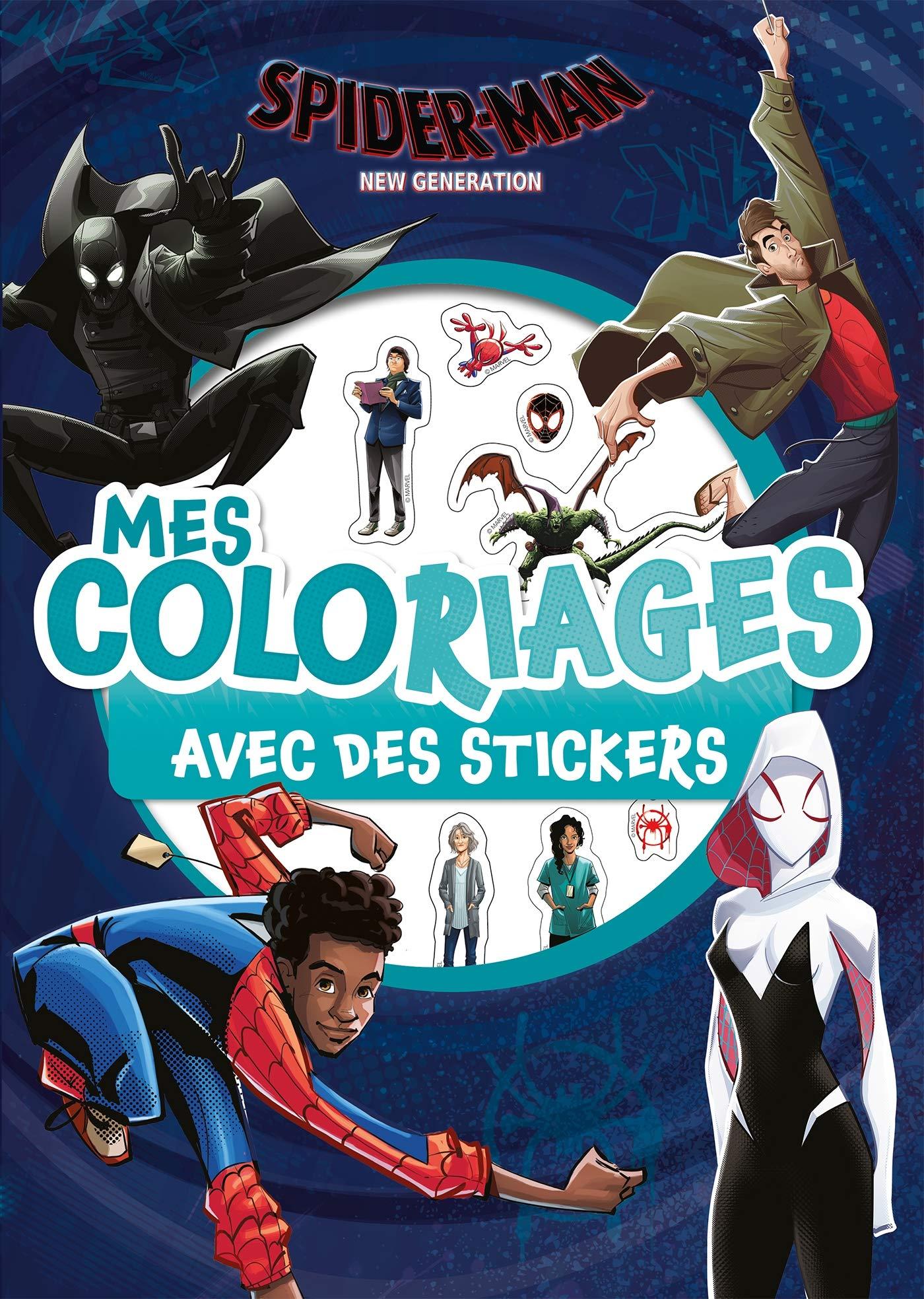 Spider Man New Generation Mes Coloriages Avec Stickers Marvel Amazon Fr Hachette Jeunesse Livres