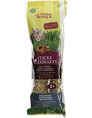 Living World 60661 Hamster Fruit Treat Sticks, 4-Ounce