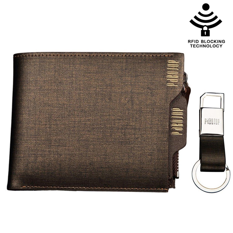 Mens Wallet RFID Blocking Technology Genuine Leather Credit Cards Money Clip Holder