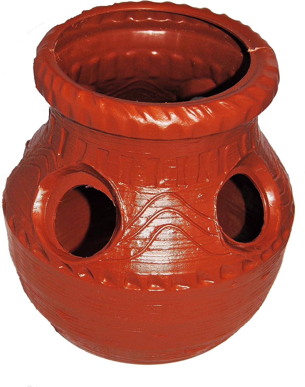 Aztec Durable Plastic Terra-Cotta Colored Strawberry Jar