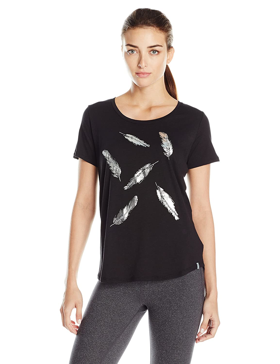 Marc New York Performance Womens Short Sleeve Scoop Neck Tee with Graphic
