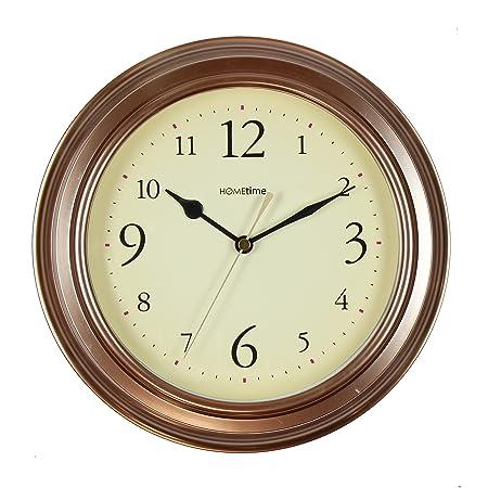 Vintage Retro metallic Small Round  Wall Clock 25 CM Sliver Gold Bronze Home