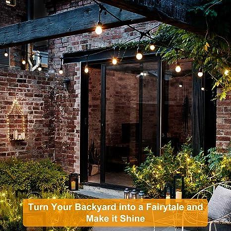OKWINT Cadena de luces LED de temporada blanco cálido y cambio de ...