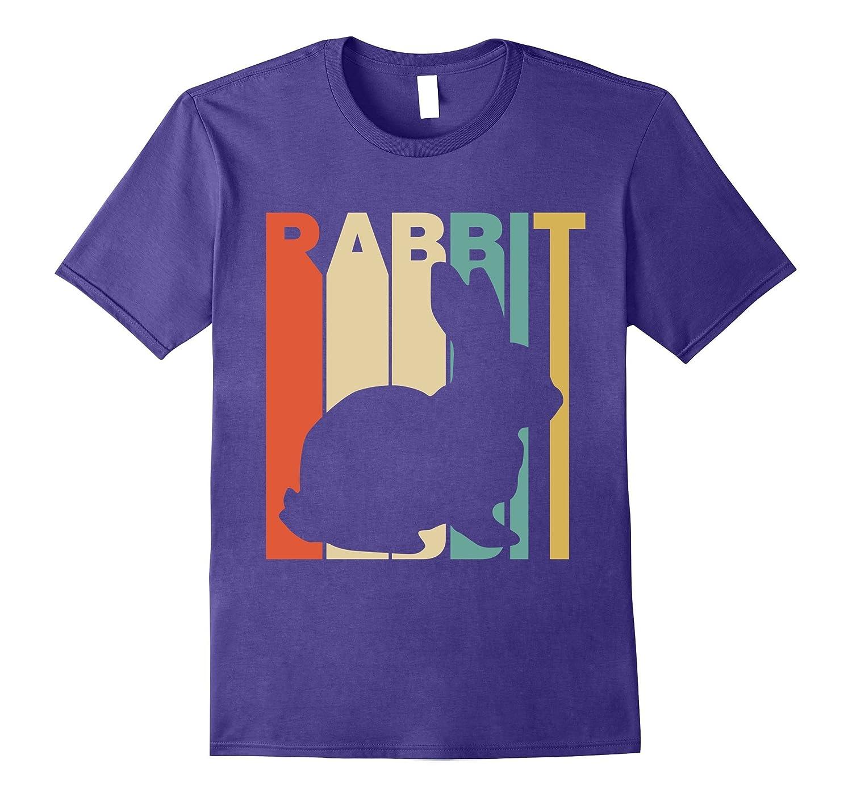 Vintage Style Rabbit Silhouette T-Shirt-Vaci