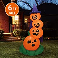Joiedomi Halloween 6 FT Inflatable Stacked Pumpkins Deals