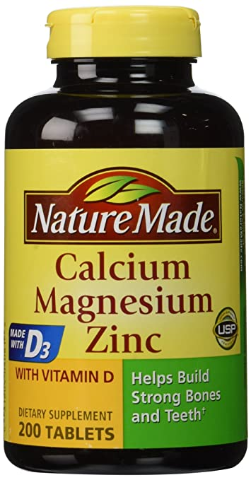 Buy Nature Made Calcium Magnesium Zinc Tablets With Vitamin D3 200