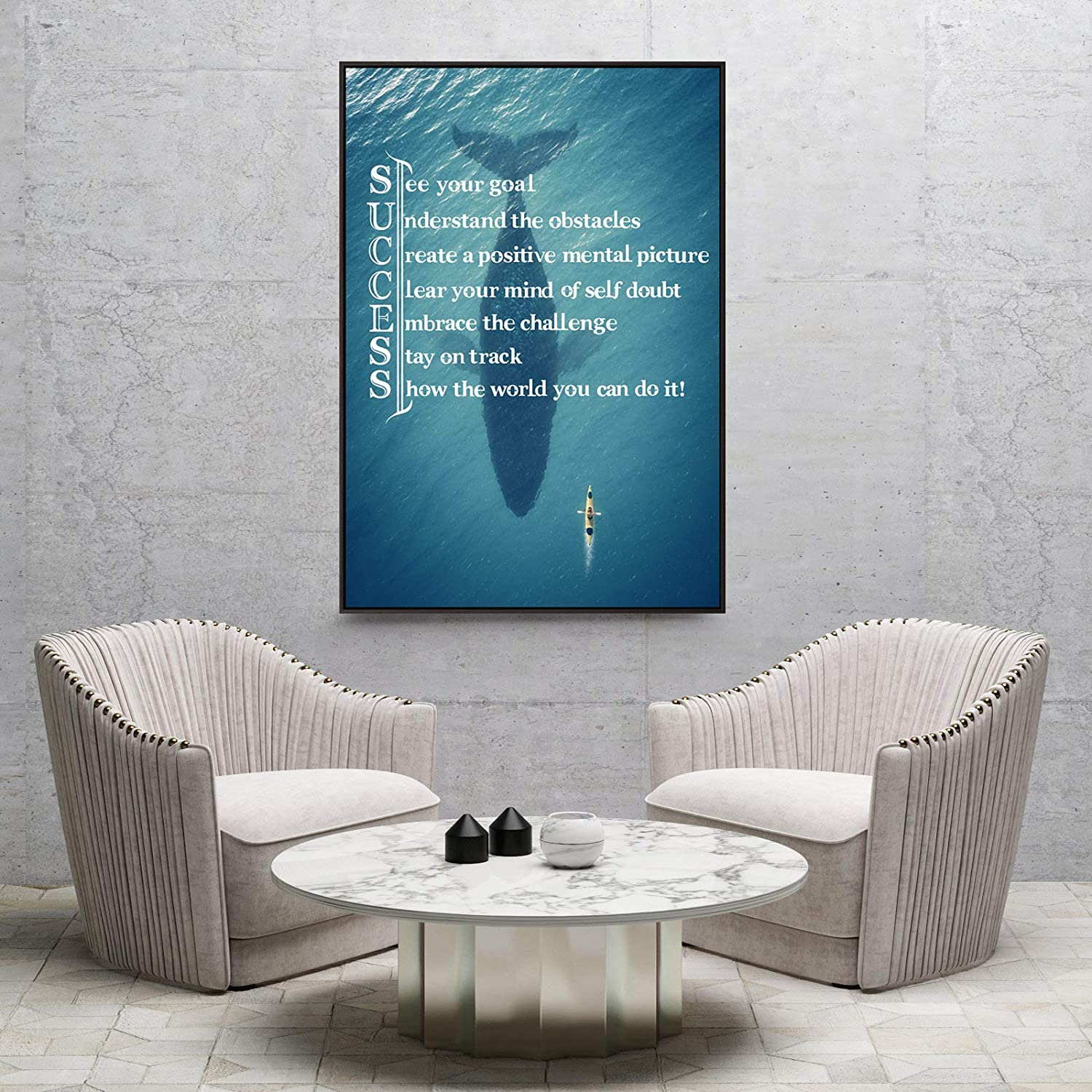 01 Not Yours, 24x32 Visual Art Decor Success Inspirational Quote Creative Ocean Challenge Limitation Canvas Poster Motivational Motto Framed Giclee Prints Home Office Boy Bedroom Wall Decoration