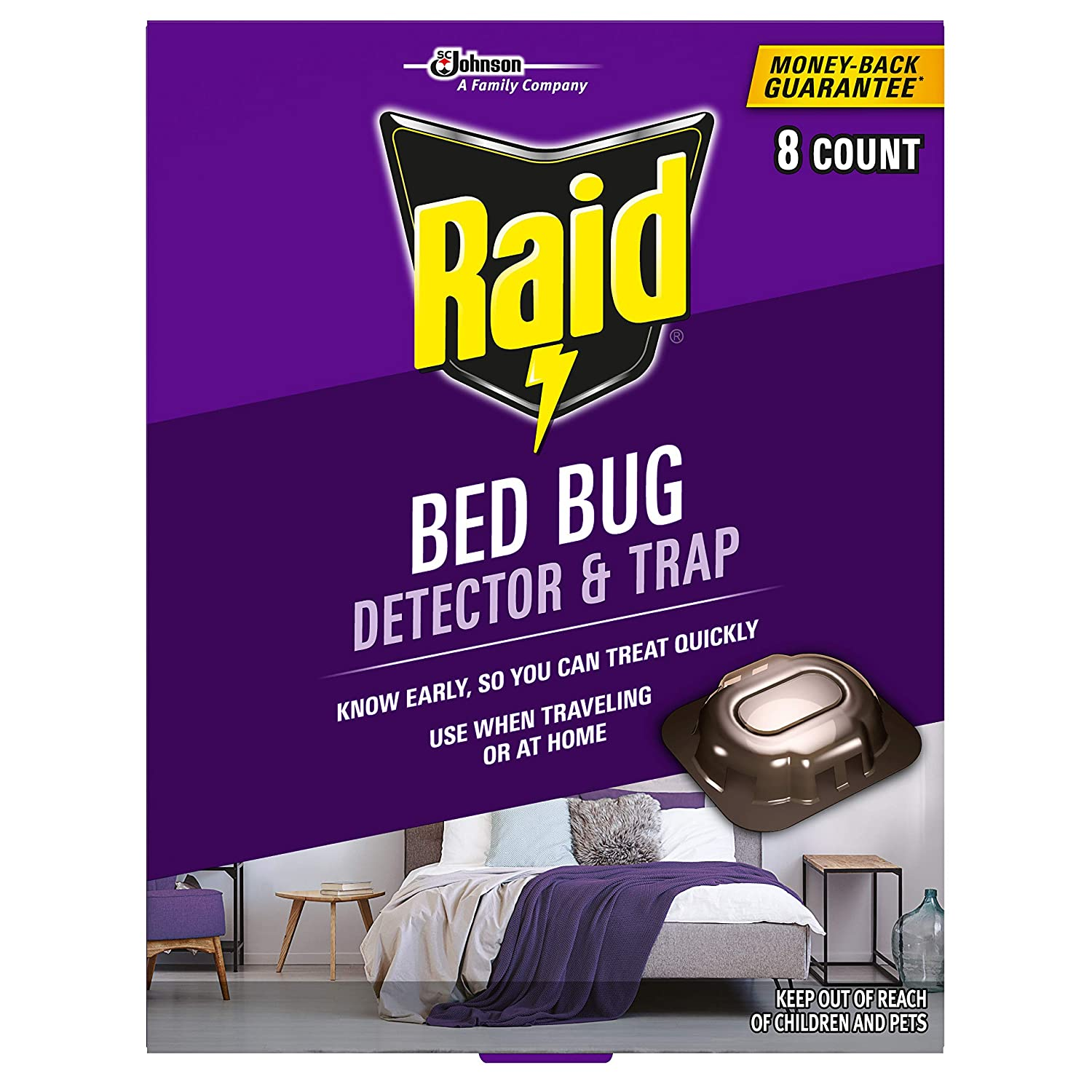 Details About Raid Bed Bug Detector Trap 8 Ct Pack 1
