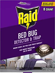 Raid Bed Bug Detector & Trap, 8 ct