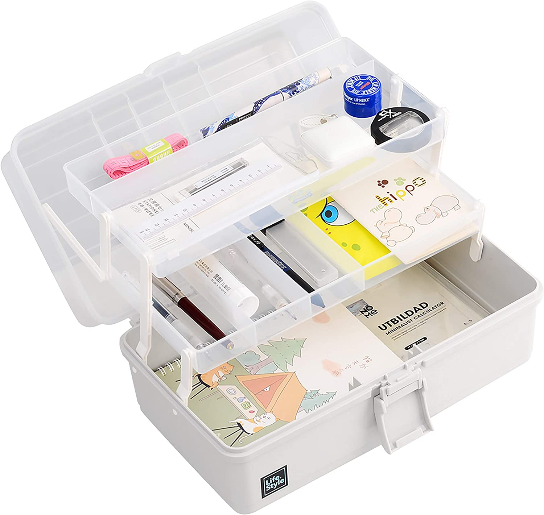 Craft Supply Storage Box,Plastic Folding Craft Storage Box with ...