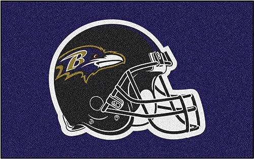 FANMATS NFL Baltimore Ravens Nylon Face Ultimat Rug
