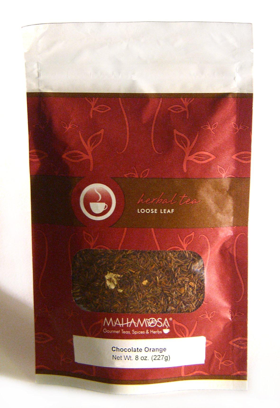 Mahamosa Chocolate Orange Rooibos Tea 8 oz - Loose Leaf Rooibos Herbal Tea Blend (Dessert Tea)