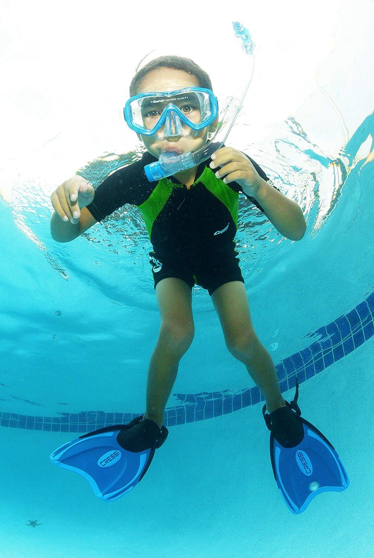 Long Sleeves XXL Cressi Kids Swimsuit Long Sleeve Black//Lime