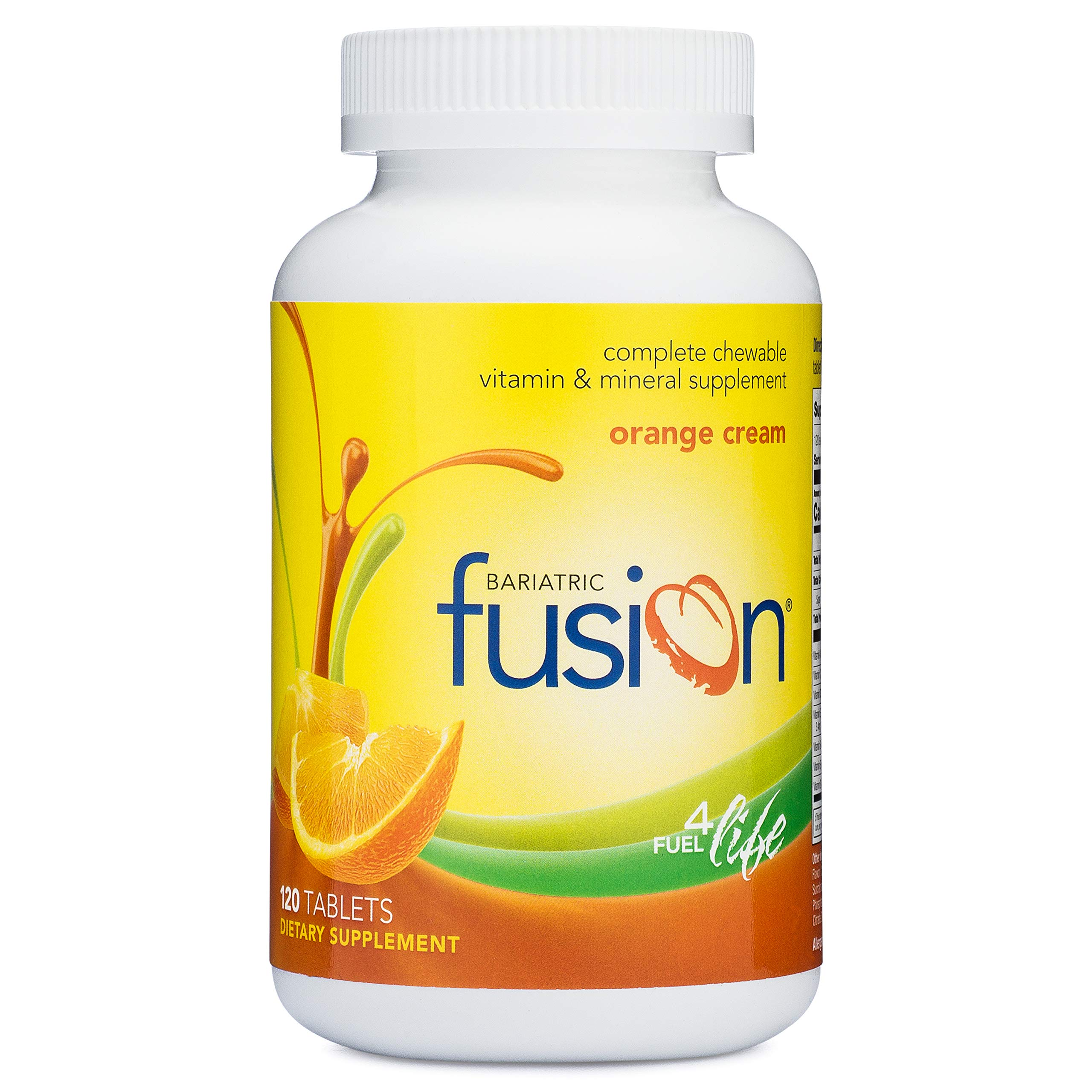 Bariatric Fusion Complete Chewable Multivitamin and Mineral Supplement Orange Cream 120 Tablets for Gastric Bypass and Sleeve Gastrectomy by Bariatric Fusion