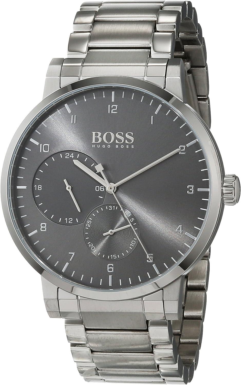 Hugo BOSS Reloj Multiesfera para Hombre de Cuarzo con Correa en Acero Inoxidable 1513596