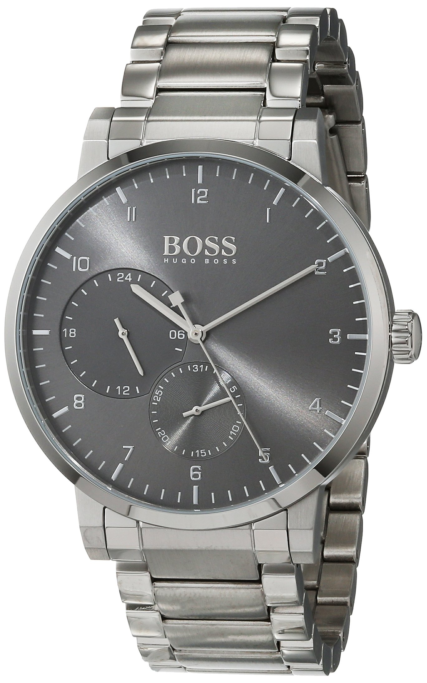 Unisex-Adult Multi dial Quartz Watch with Stainless Steel Strap 1513596