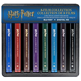 Harry Potter Complete 8 Film Collection Steelbook Blu Ray