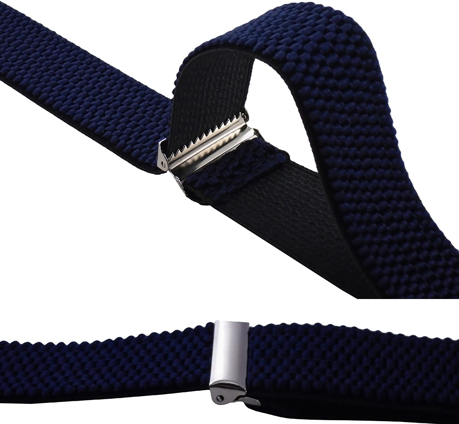 Decalen Mens Braces Very Strong Clips One Size Fits All X Style Heavy Duty Suspenders